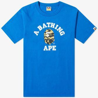 A BATHING APE 1ST CAMO COLLEGE TEE
