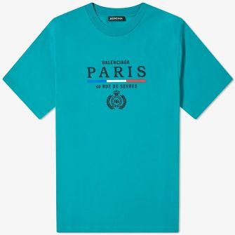 BALENCIAGA PARIS FLAG REGULAR TEE