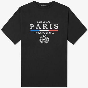 BALENCIAGA PARIS FLAG TEE
