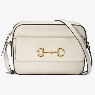 GUCCI HORSEBIT 1955 SMALL SHOULDER BAG WHITE