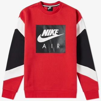 NIKE AIR CREW SWEAT GYM RED, WHITE & BLACK