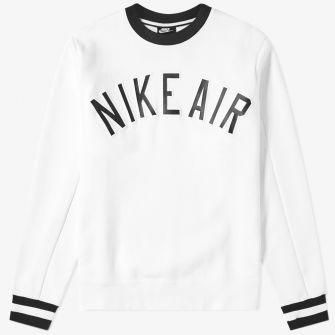 NIKE AIR FLEECE CREW SWEAT WHITE
