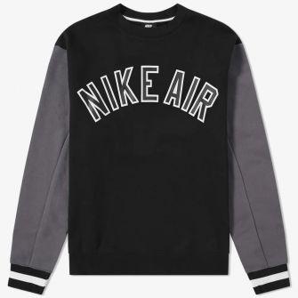 NIKE AIR VARSITY CREW SWEAT BLACK
