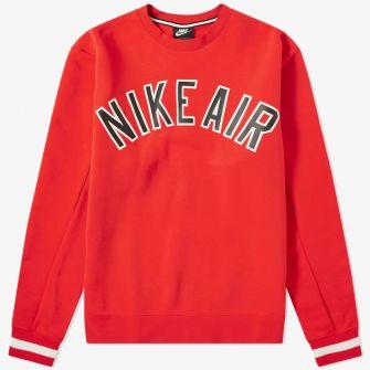 NIKE AIR VARSITY CREW SWEAT RED