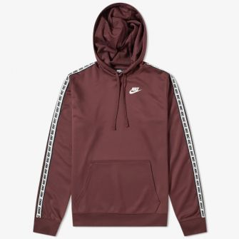 NIKE REPEAT POLY PULLOVER HOODY RED