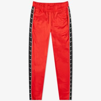 NIKE TAPED POLY TRACK PANT RED