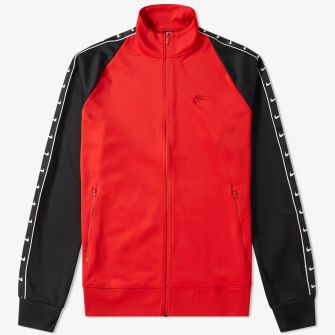 NIKE TAPED TRACK JACKET RED