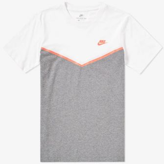 NIKE WINDRUNNER TEE WHITE, CARBON HEATHER & PUNCH