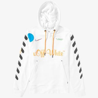 NIKE X OFF-WHITE PULLOVER HOODY WHITE