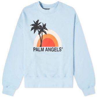 PALM ANGELS SUNSET CREW SWEAT