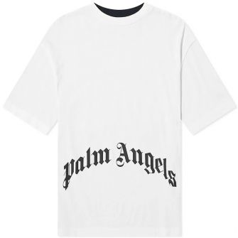 PALM ANGELS THINK SKULLS CONTRAST FRONT & BACK TEE
