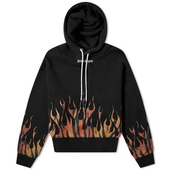 PALM ANGELS TIGER FLAMES POPOVER HOODY