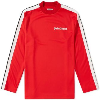 PALM ANGELS TRACK TAPING LONG SLEEVE TEE