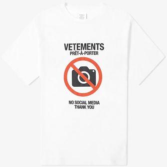 VETEMENTS ANTI SOCIAL TEE WHITE