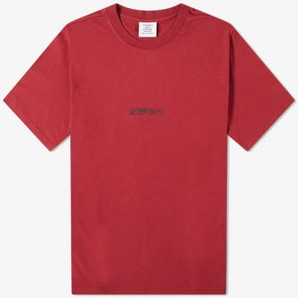 VETEMENTS JEANS LOGO TEE RED