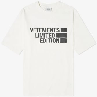 VETEMENTS OVERSIZED LOGO LIMITED EDITION TEE WHITE
