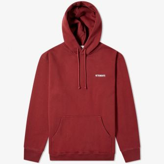 VETEMENTS SMALL LOGO POPOVER HOODY RED