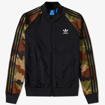 ADIDAS ESSENTIALS CAMO SUPERSTAR TRACK TOP