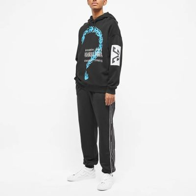 GIVENCHY BURNING QUESTION PRINT HOODIE